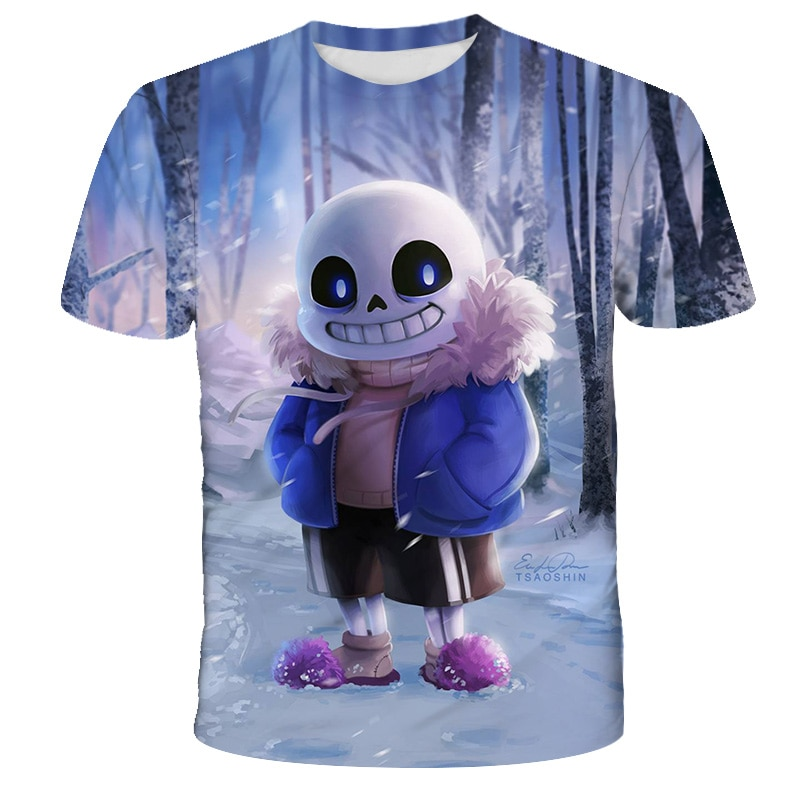 Undertale Printing 3D t shirt Funny Story Boy Harajuku Girl T Shirt O-neck Kids Summer Short Sleeve Children Clothing Casual Tee недорого