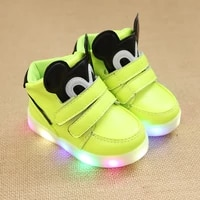 disney micky mouse fashion baby casual shoes led lighted cartoon classic boys girls elegant lovely cute infant tennis sneakers