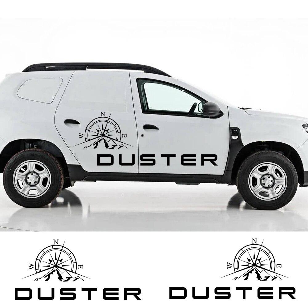 Для Dacia Renault Duster Compass Mountain Graphics Body Sticker 2 шт. автомобильные двери боковые виниловые Стикеры для декора стикер s внедорожные Стайлинг наклейки