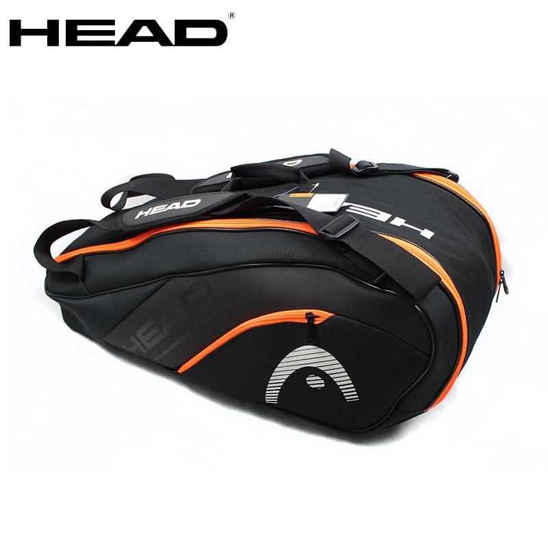 Original HEAD Tennis Squash Racket Backpack 6-7 Large Capacity Tennis Badminton Racket Bag Men Raquete De Tenis Padel Racket Bag