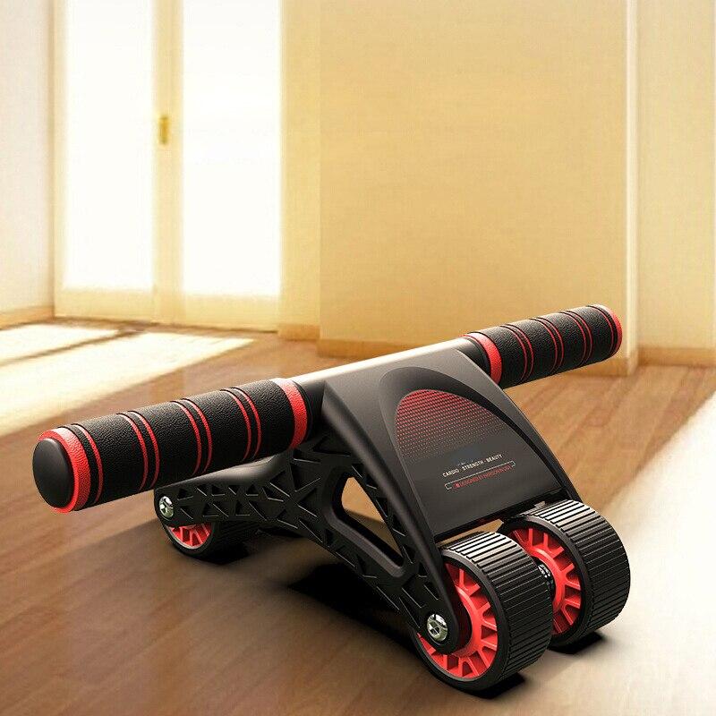 Rueda Abdominal ABS de 4 ruedas, equipo de ejercicio, entrenador muscular Abdominal para brazos, espalda, vientre, núcleo, forma corporal, accesorios de Fitness