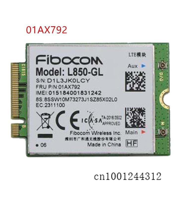 01AX792 L850-GL 4G اللاسلكية M.2 WWAN بطاقة لباد X390 X380 اليوغا T480 T490 T495 T490s T495s T580 T590 P52 P52S P53