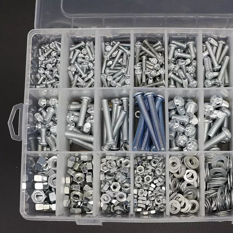 DIY boxed semicircular head Phillips screw nut washer M3M4M5 home set enlarge