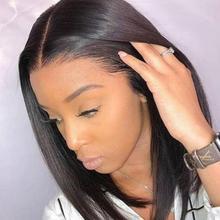 Perruque Bob lace Wig naturelle brésilienne   Cheveux vierges lisses, Kim K, 2 by6, coupe courte au carré