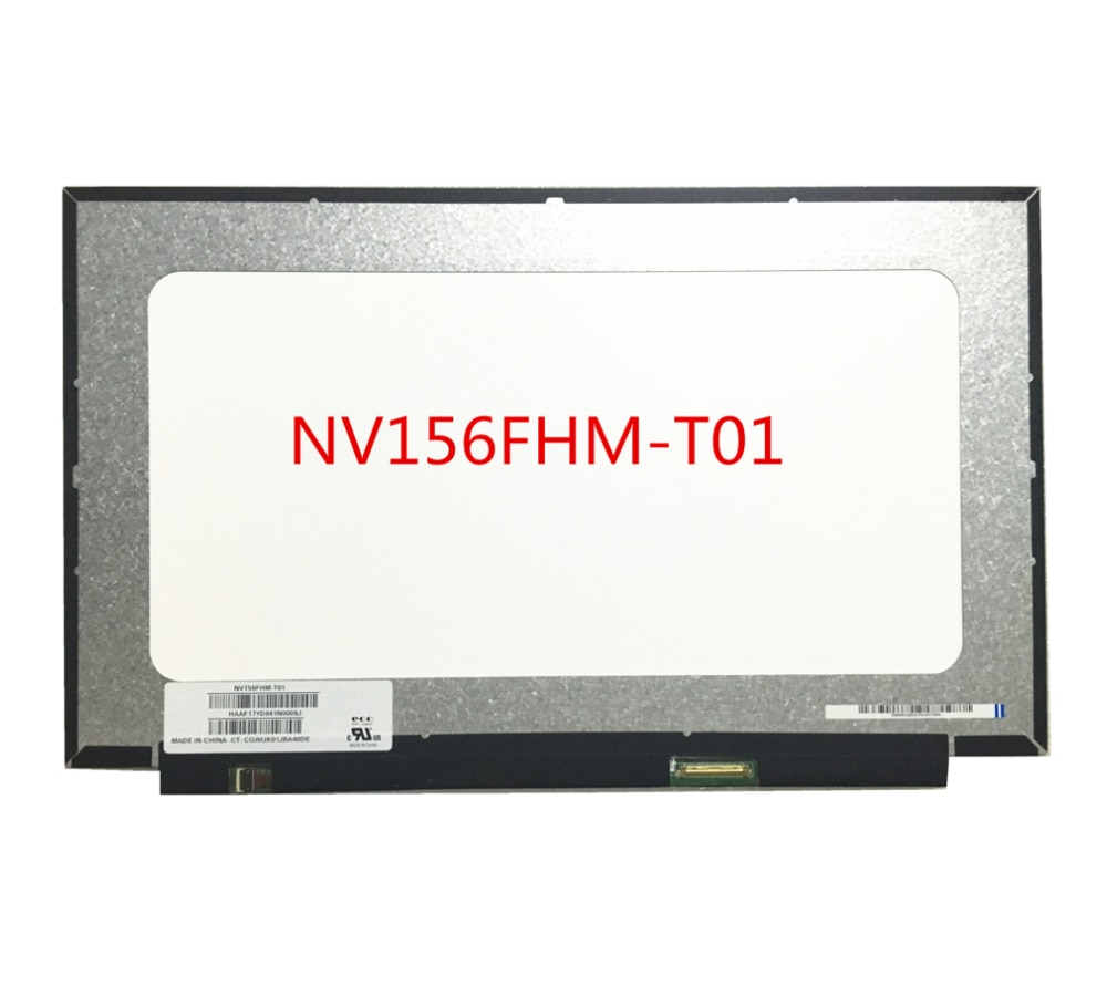 Free shipping NV156FHM-T01 NV156FHM T01 15.6''inch 1920X1080 FHD 40pins Laptop Lcd Screen Dispaly Replacement