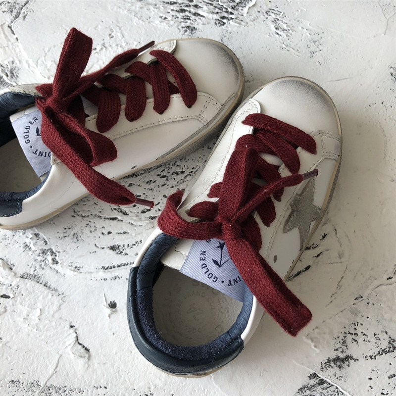 Spring and Summer First Layer Cowhide Children Retro Old Small Dirty Shoes Boys and Girls Casual Kids Fashion Sneakers CS188