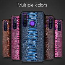 Natural Genuine Leather Skin Phone Case Cover On For Oppo Realmi Realme 5 Pro Q Realme5 RealmeQ 5Pro Global 4/8 64/128 GB Bumper