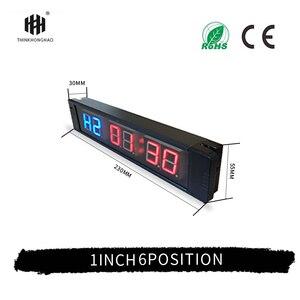 Mini Portable 1Inch 6 Digital LED Crossfit Interval Training Timer