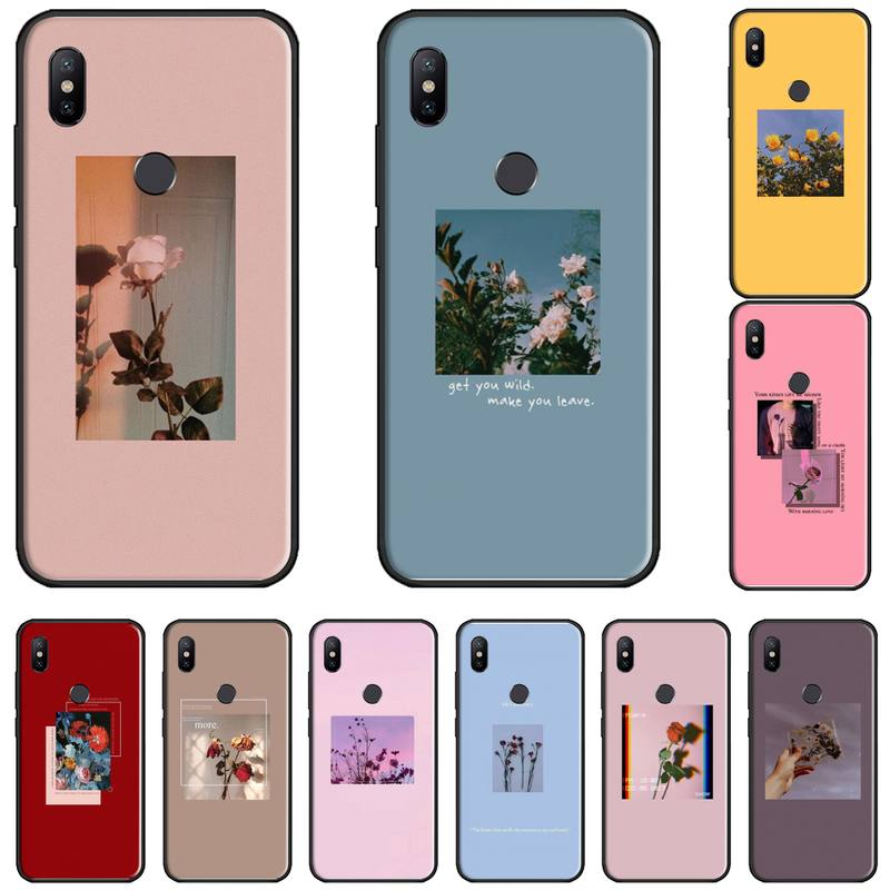 aesthetics flower Phone Cases For Xiaomi Redmi Note 4 4x 5 6 7 8 pro S2 PLUS 6A PRO