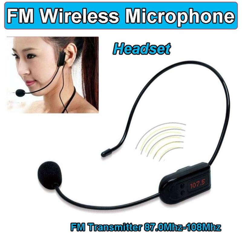ALLOYSEED Mini FM MICRÓFONO INALÁMBRICO auricular portátil megafone Radio micrófono altavoz para enseñar guías de turismo conferencias de reuniones