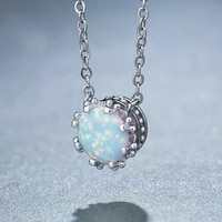 fashion white imitation opal pendant necklace wedding jewelry bohemian statement necklace girl gift 2020 women necklace