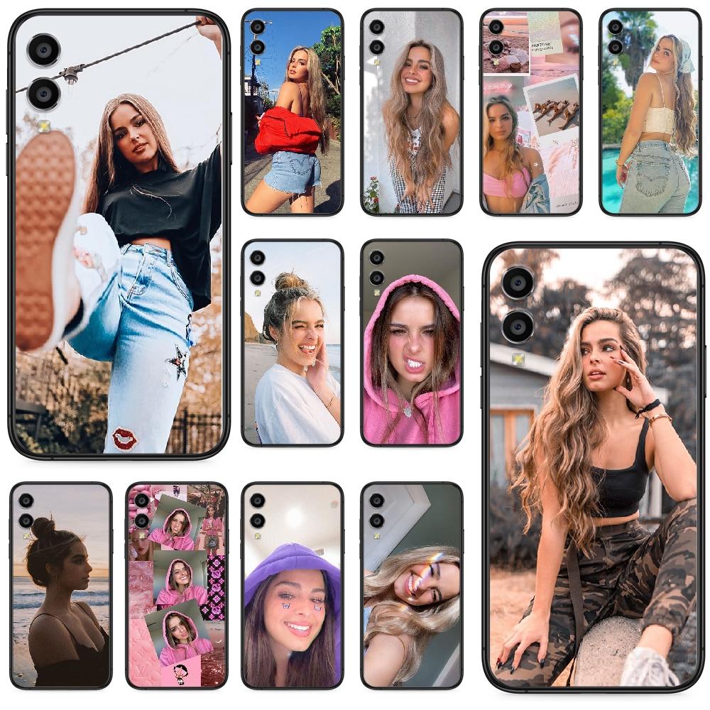 Funda de teléfono bonita a la moda addison rae para Huawei Honor 10 10i 20 6A 7A 8 8A 8X 9 9X Play View 20 Lite Pro negro