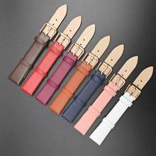 Watchbands Genuine Leather Watch Band Straps 12mm 14mm 16mm 18mm 20mm 22mm Women Men Brown Black Bel