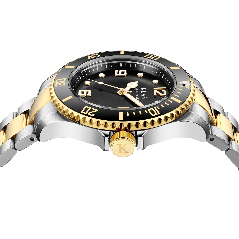 Klas Freeshipping Package Gitf Box Men's Wrist Watch  Waterproof Steel Quartz Leisure Style Luxury Brand Clocks enlarge