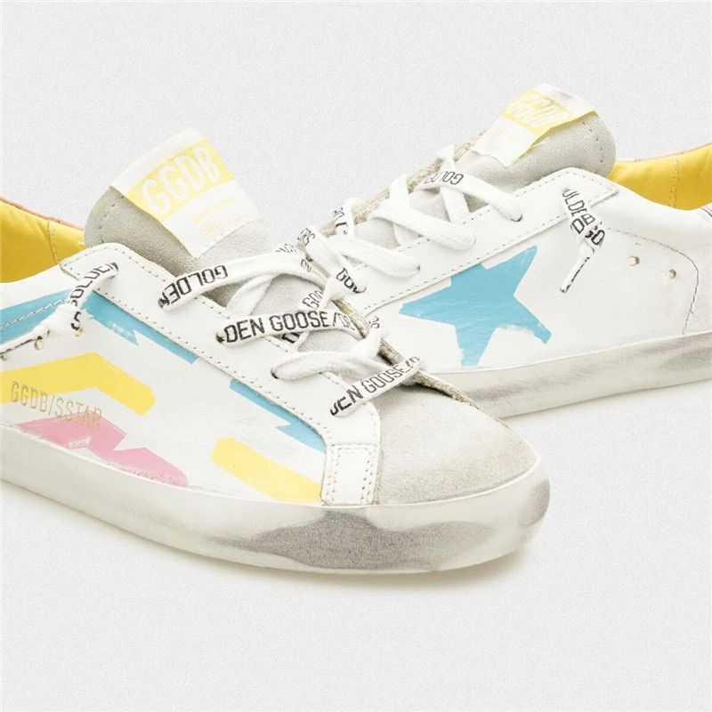 Spring and Summer New Color Striped First Layer Cowhide Children's Old Small Dirty Shoes Boys /Girls Casual Kids Sneakers QZ15 enlarge