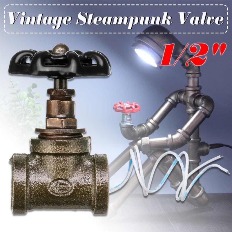 1/2 дюймов запорный клапан светильник переключатель Винтаж стимпанк Стиль украшения для Водостоки лампа железная лампа подвесной светильни...