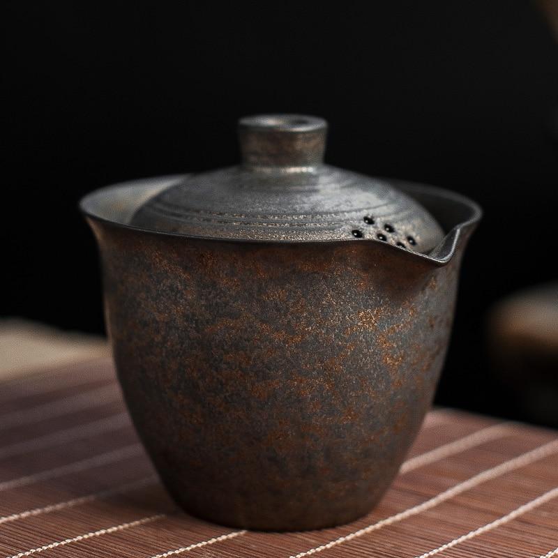 LUWU الصينية إبريق شاي من السيراميك غلاية gaiwan فنجان الشاي الصينية الكونغ فو تشاوان درينكوير 200 مللي