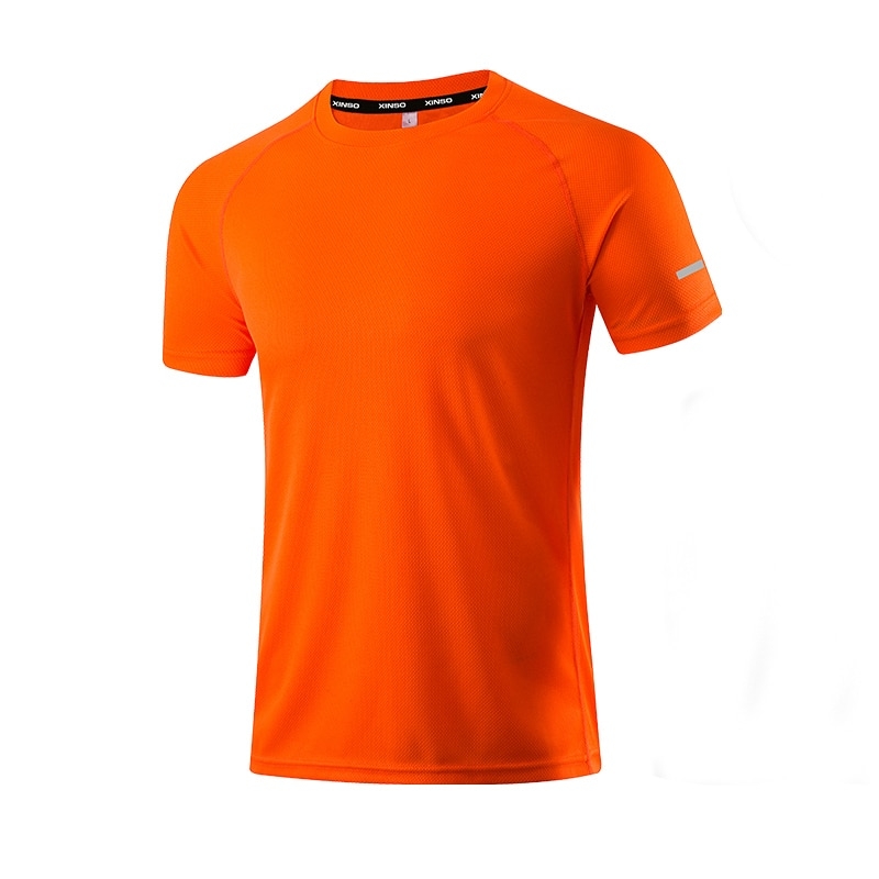 Camisetas de poliéster de Color sólido para hombre, ropa de gimnasio, ropa...