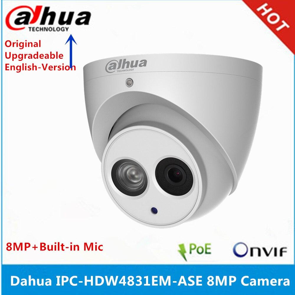 Dahua IPC-HDW4831EM-ASE carcasa de metal H2.65 micrófono integrado WDR IR 50m POE 8 MP cámara IP reemplazar IPC-HDW4830EM-AS cámara cctv