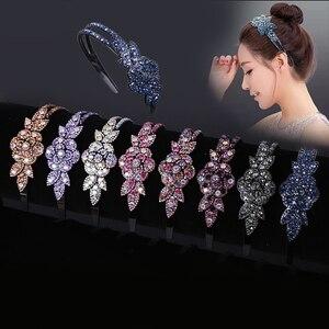 Hair Band Rhinestone Women's Accessories Crystal Hoop Headband Hairband Flower