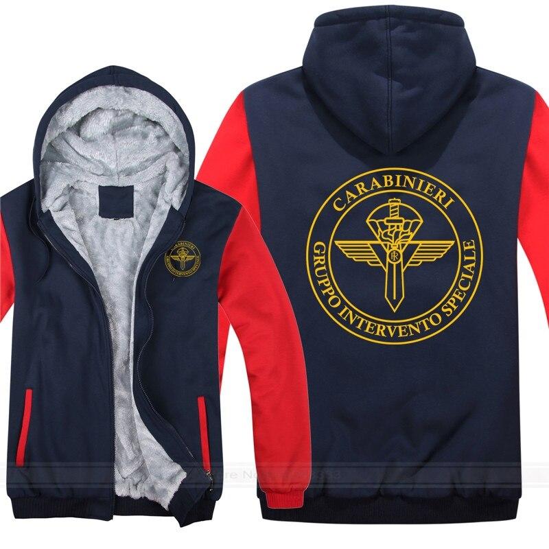 Gis gruppo di interventiale swat polícia italiana hooides homens casaco legal engrossar itália polícia moletom mans jaqueta com capuz