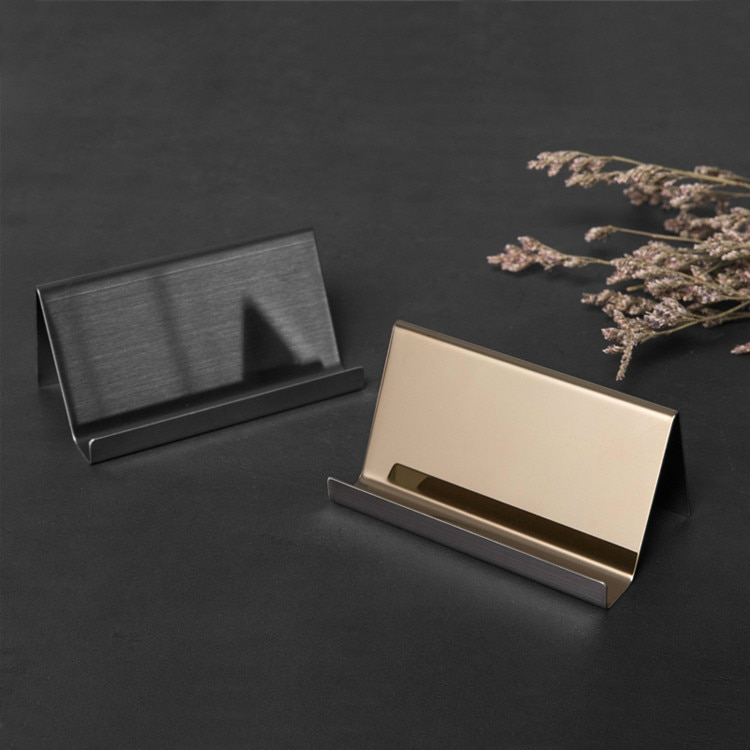 Stainless Steel Business Card Holder Business Desk Business Card Display Office Accessories Photo Display Stand Desk Accessories