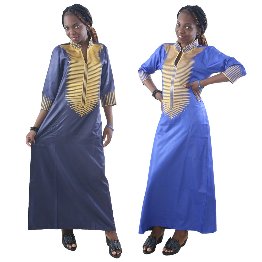 MD женские африканские платья традиционная Южная Африка женская одежда Анкара Макси платье вышивка шаблон халаты Дашики наряд