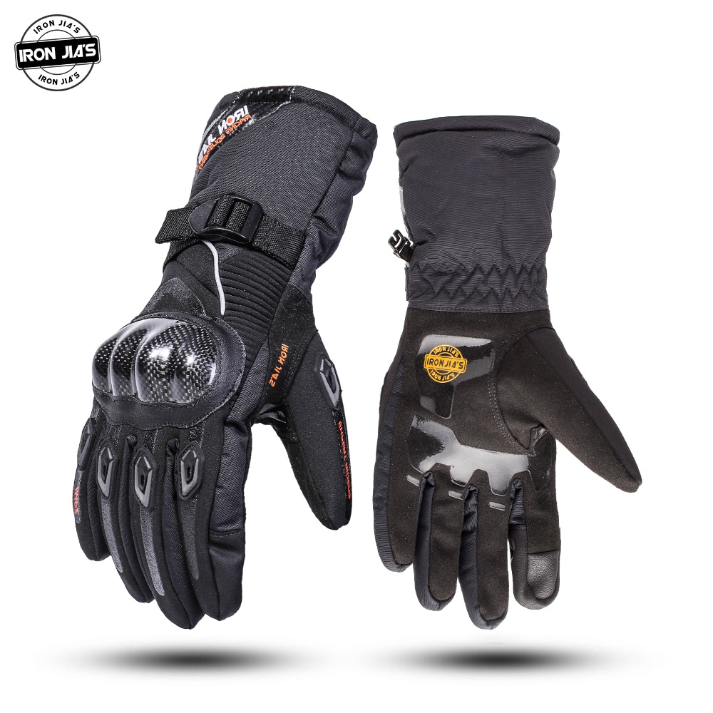 IRON JIA'S Motorcycle Gloves Winter Waterproof Touch Screen Carbon Fiber Moto Protective Gear Motocross Motorbike Riding Gloves enlarge