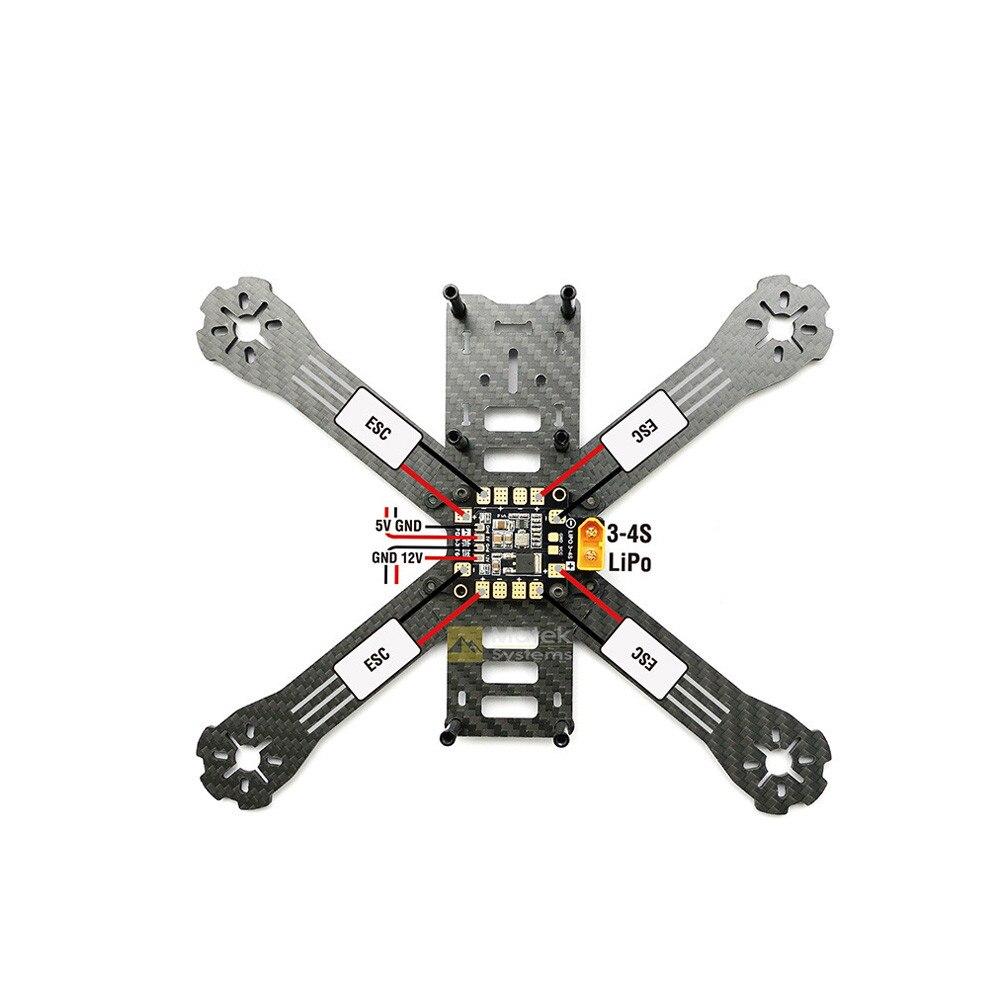 Matek Systems AP XT60 W/BEC 5V y 12V 2oz cobre para RC helicóptero Quadcopter Y1218