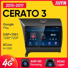 JIUYIN Type C Car Radio Multimedia Video Player Navigation GPS For Kia Cerato 3 2013 - 2017 Android