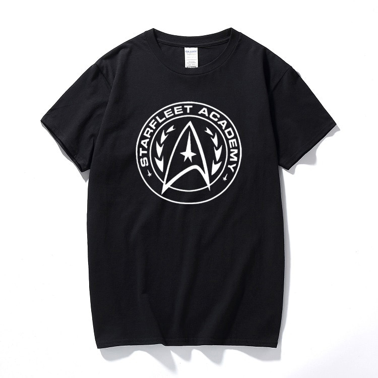 Starfleet academy mens t shirt tee star enterprise space trek retro gift summer top camiseta cotton short sleeve t-shirt