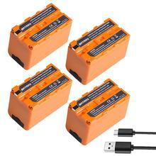 4 pièces 5200mAH USB Sortie NP-F750 NP F750 F730 F770 Batterie alimentation LED Indicateur pour Sony NP F960 F970 NP-F770 CCD-TRV58 V1J z1