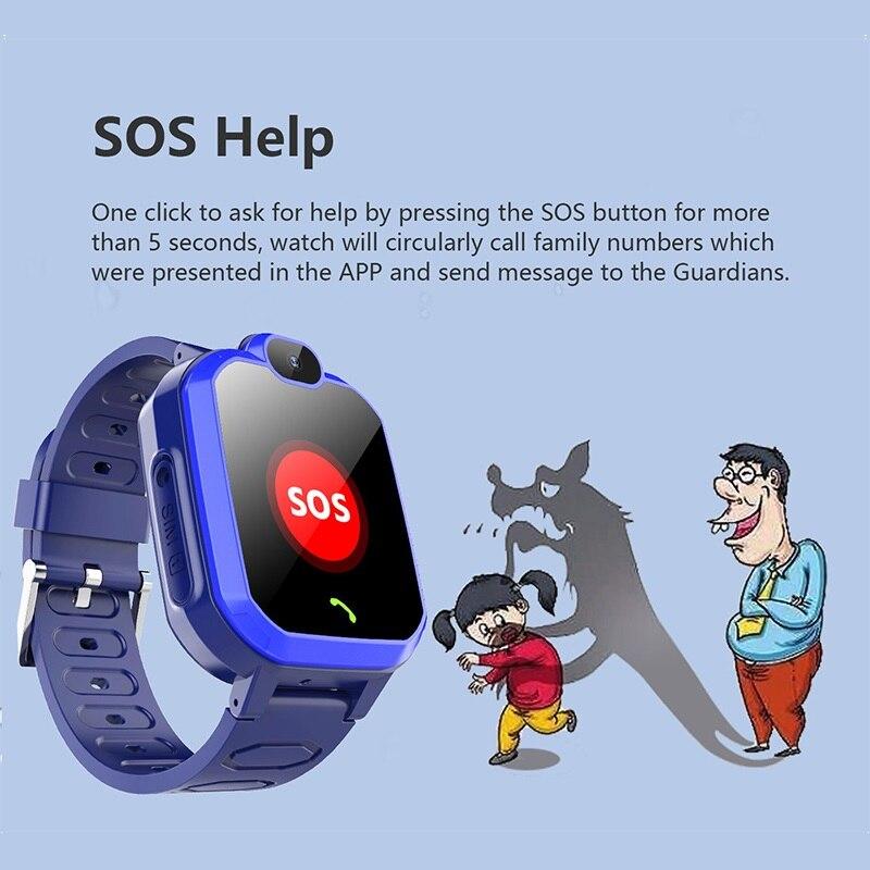 E18 2G SIM Card Kid Smart Watch Anti Lost MonitorSmartwatch For Children SOS Call LBS Location Finder Locator Tracker Baby Watch