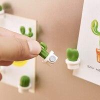 6 шт./компл. Милые 3D суккуленты доска объявлений и напоминания для кухни Холодильник Магнитная кнопка украшение-кактус аксессуары