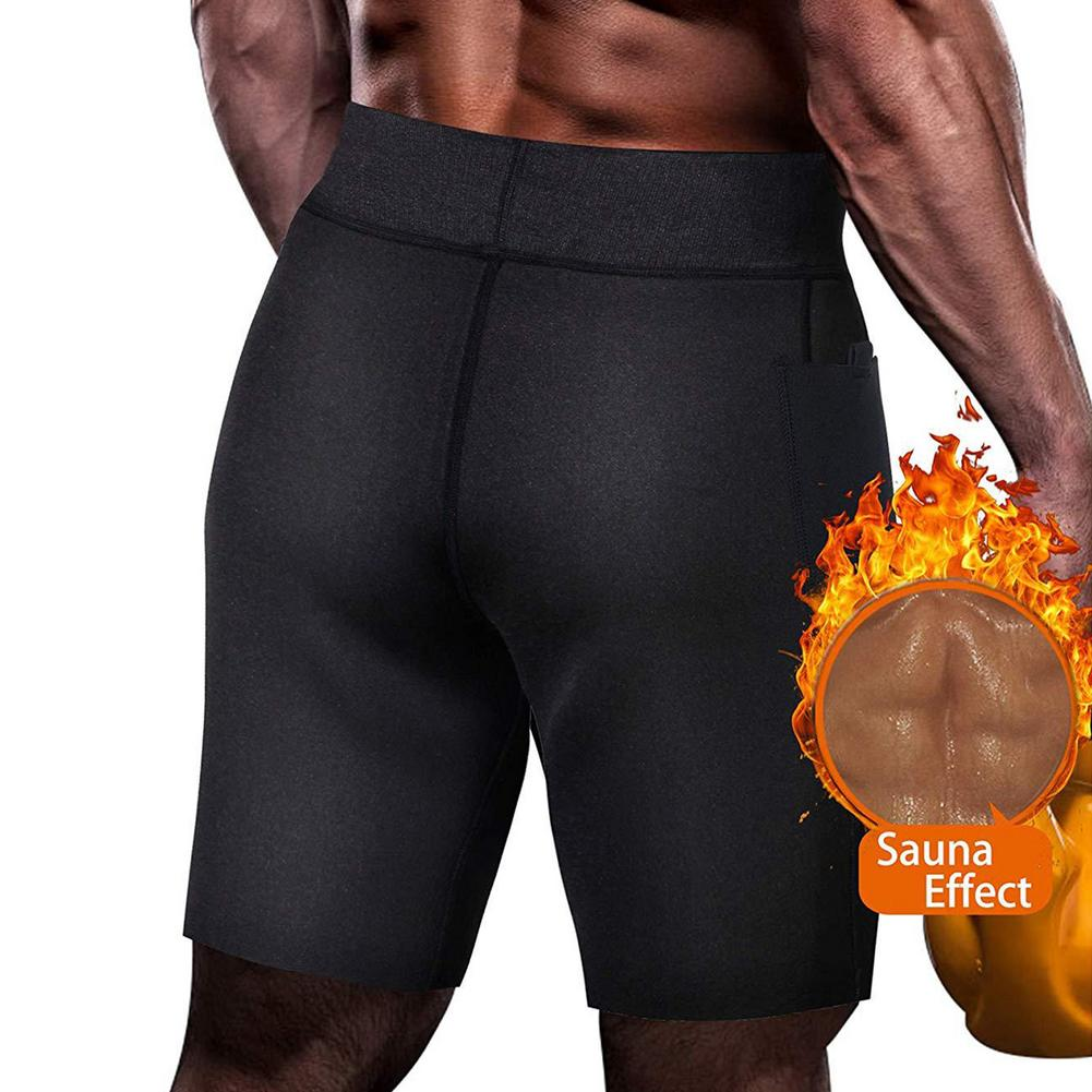 Men's Five-point Slimming Shaping Pants Stretch Body Shaping Sweat Fat Burning Slim Yoga Shorts For