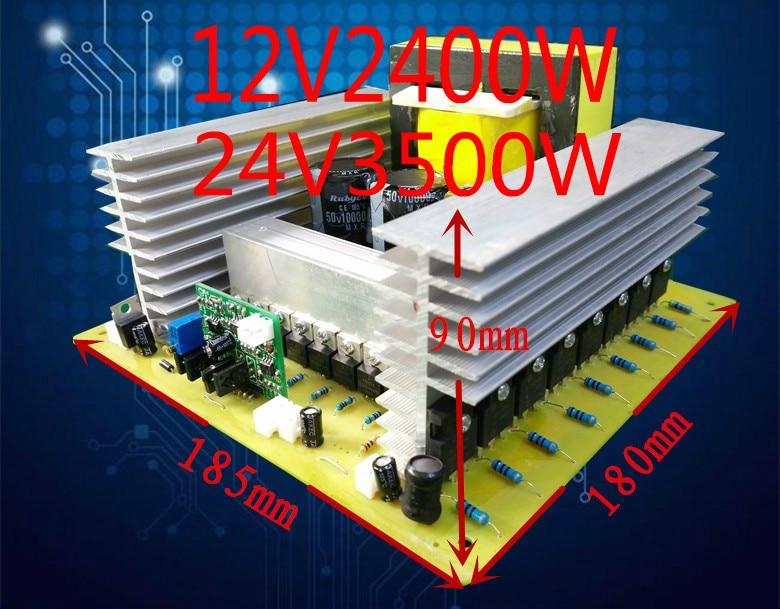 Accesorios de refuerzo para preetapa de bricolaje, 12V2400W24V3500W, transformador EE85B de alta potencia, preetapa terminado