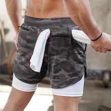 Bodybuilding Men's Shorts Camouflage Sport Shorts Running Shorts Men Fitness Gym Shorts with Pocket