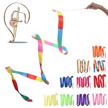 1 Pza 2 M/4 M 10 colores gimnastic Streamer varillas giratorias entrenamiento profesional gimnasio rítmico bailarina artística baile colorido Ribbons Stick
