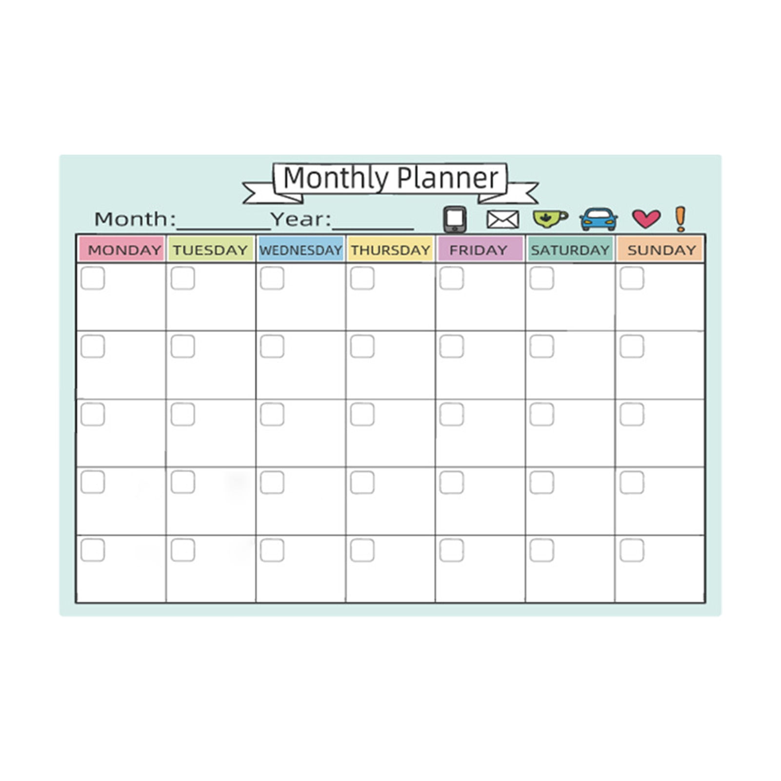 Magnetic Calendars Monthly Weekly Planner Dry Erase Calendar School/Office Supplies 2020 New