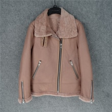Free shipping.Guarantee Genuine leather jacket with fur.Winter warm women 100% shearling coat.Street sheepskin with wool jackets