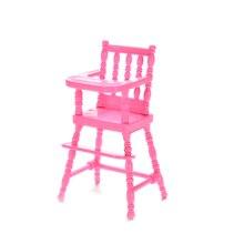 Chaise en plastique de poupée faite à la main pour poupées accessoires de poupée filles meilleurs cadeaux Promotion enfant jouer maison jouets couleur rose