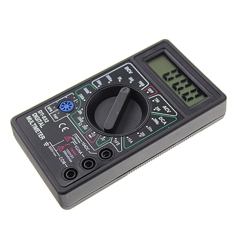 Professional DT832 Digital Multimeter LCD DC AC Voltmeter Ammeter Ohm Tester