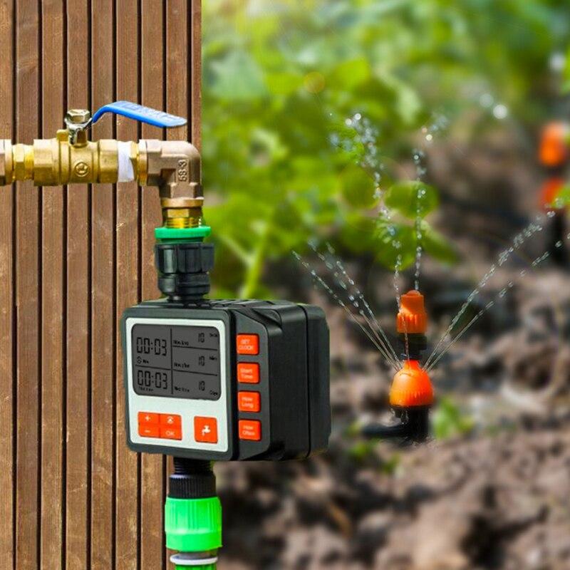 Nuevo dispositivo de riego automático con pantalla LED grande, sistema de riego por goteo, controlador de riego, temporizador de riego para jardín