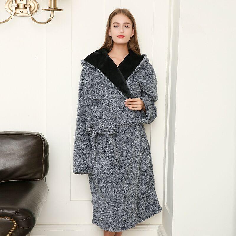 2020 утолщенные ночные рубашки, зимний халат, женские пижамы, банный фланелевый теплый халат, одежда для сна, женские халаты, коралловый барха...