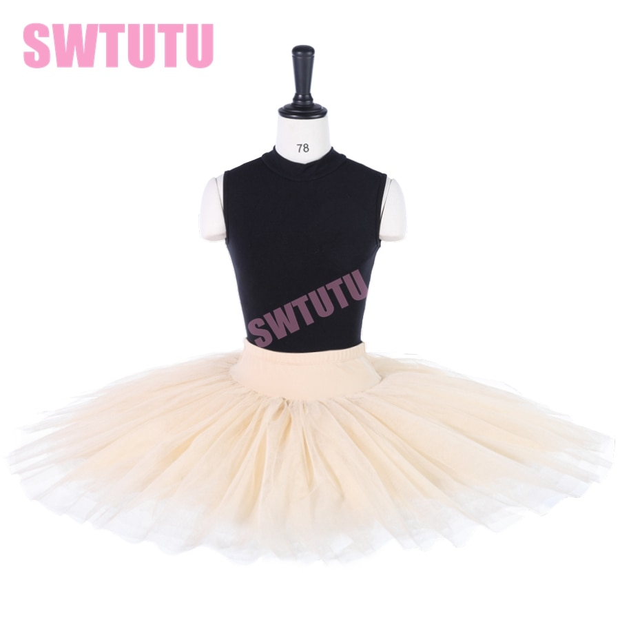 Envío Gratis beige panqueque medio ballet tutú mujeres baile ballet tutú bailarina traje BT8923