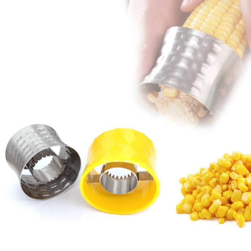 Mini máquina de afeitar Manual de maíz Circular, trilladora de acero inoxidable 304, peladora de maíz amarillo, herramientas para vegetales para el hogar