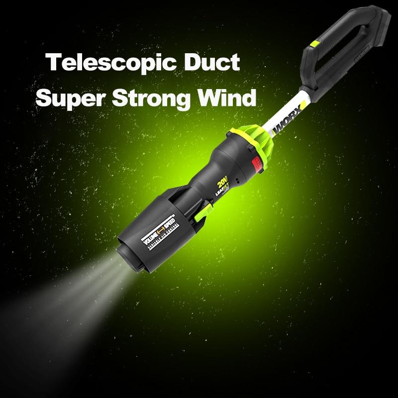 WORX WU231 متعددة الوظائف اللاسلكي منفاخ 20 فولت قوية جهاز إزالة الغبار الصناعية الصف الكهربائية جهاز إزالة الغبار ورقة تنظيف