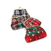 new elegant christmas gifts coin purse women lady retro vintage snow flower small wallet hasp printing floral clutch bag 2021