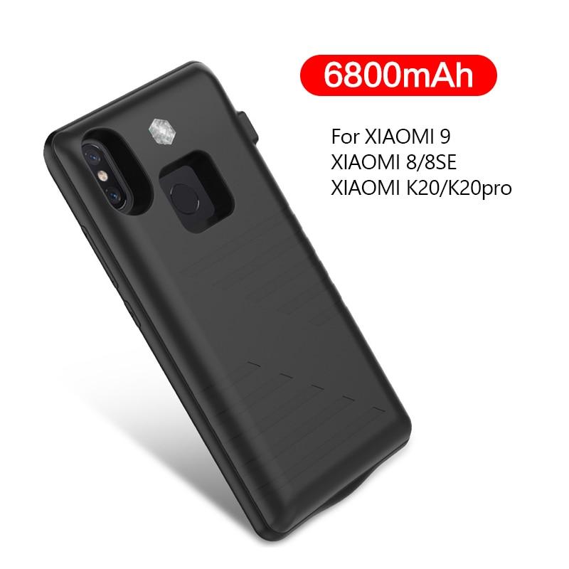 Cargador de batería 6800mAh para Xiaomi Mi 9 8 SE batería externa para Xiaomi Redmi K20 K20 Pro funda de batería