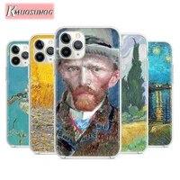 vincent van gogh for apple iphone 12pro max mini 11pro xs max x xr 6s 6 7 8 plus 5s se2020 transparent phone case